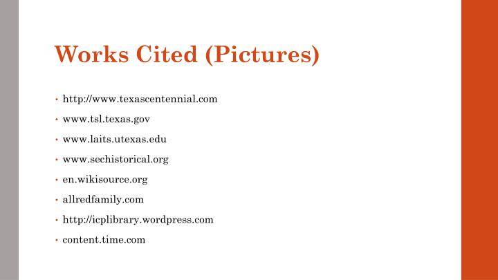 Works Cited (Pictures)