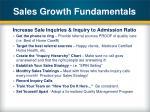 sales growth fundamentals