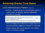 achieving grantor trust status5