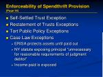 enforceability of spendthrift provision page 941