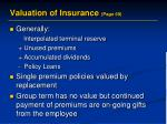 valuation of insurance page 69