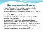 business associate breaches
