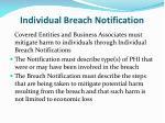 individual breach notification