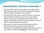 subcontractors business associates