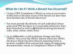 what do i do if i think a breach has occurred