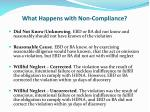 what happens with non compliance1