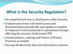 what is the security regulation1