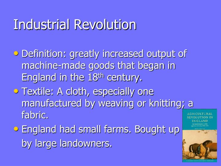 technology industrial revolution essay