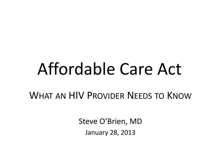 affordable care act n.