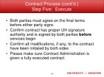 contract process cont d step five execute