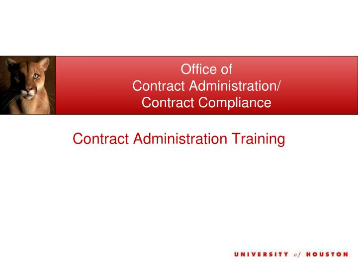 office of contract administration contract compliance n.