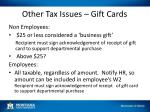 other tax issues gift cards