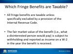 which fringe benefits are taxable