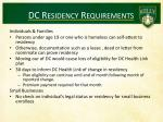 dc residency requirements