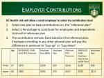 employer contributions