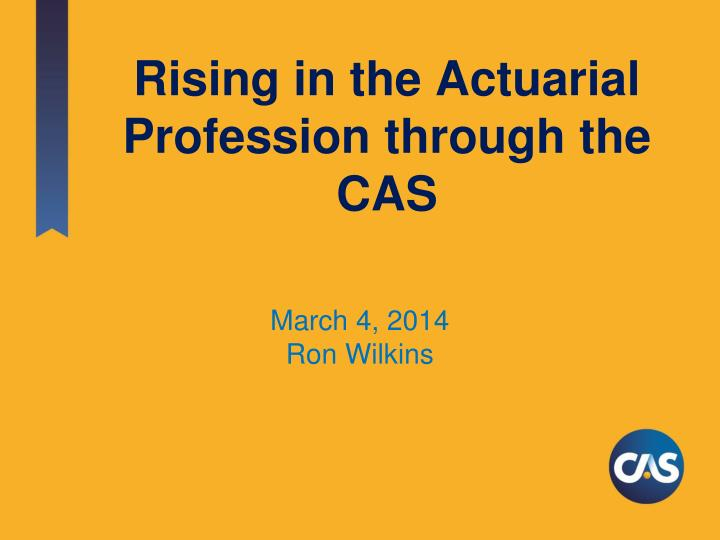 rising in the actuarial profession through the cas n.