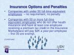 insurance options and penalties