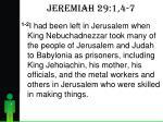 jeremiah 29 1 4 7
