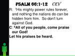 psalm 66 1 12 cev3
