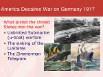 america decalres war on germany 19171
