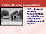 federal housing administation