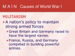 m a i n causes of world war i