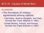 m a i n causes of world war i1