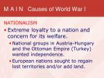 m a i n causes of world war i3