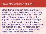 stock market crash of 19291