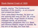 stock market crash of 19292