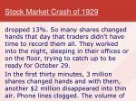 stock market crash of 19293