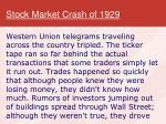 stock market crash of 19294