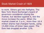 stock market crash of 19296