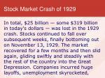 stock market crash of 19297