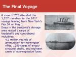 t he final voyage