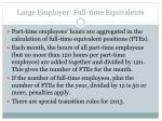 large employer full time equivalents