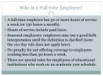 who is a full time employee