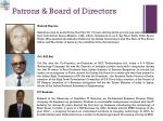 patrons board of directors