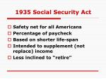 1935 social security act