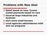 problems with new deal
