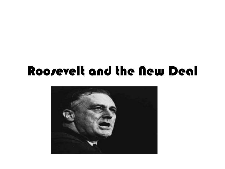 roosevelt and the new deal n.