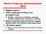 works progress administration wpa