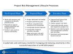 project risk management lifecycle processes