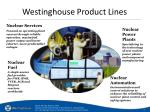westinghouse product lines
