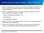 benefits of insurance company treatment captive s perspective
