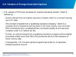 u s taxation of foreign domiciled captives2