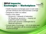 2014 impacts exchanges marketplace
