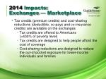 2014 impacts exchanges marketplace1