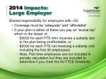 2014 impacts large employer1