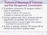 professional advantage of insurance and risk management concentration